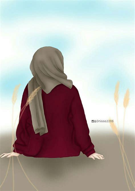 hijab displaypicture forgirls ilustrasi  gambar