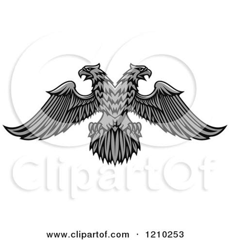 Heraldic Beast Headed Eagle royalty free stock illustrations of animals by seamartini