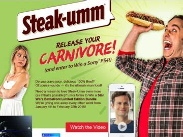 Ps4 Contest Giveaway - quaker maid meats inc steak umm release your carnivore ps4 giveaway sweepstakes