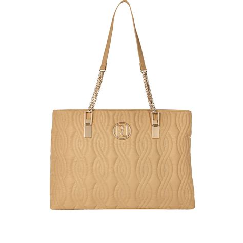 Quilted Bag With Chain by River Island Beige Quilted Chain Tote Bag In Beige