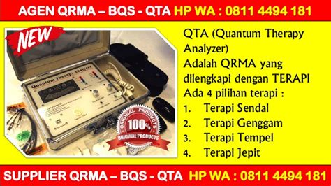 Agen Quantum Therapy Analyzer Qta promo hp wa 0811 4494 181 qrma indonesia