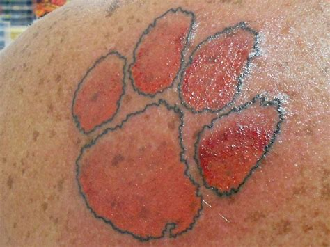 clemson tattoo clemson paw clemson tiger pride by painforbea