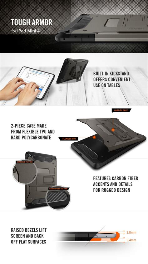 Casing Spigen Sgp Series Tough Armor Mini Mini Retina ready stock original spigen sgp apple mini 4