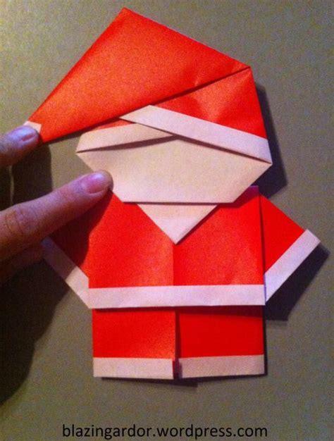 Origami Santa Clause - origami santa how to guide