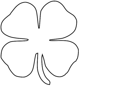 Shamrock Outline Clipart by Outline Of A Shamrock Cliparts Co