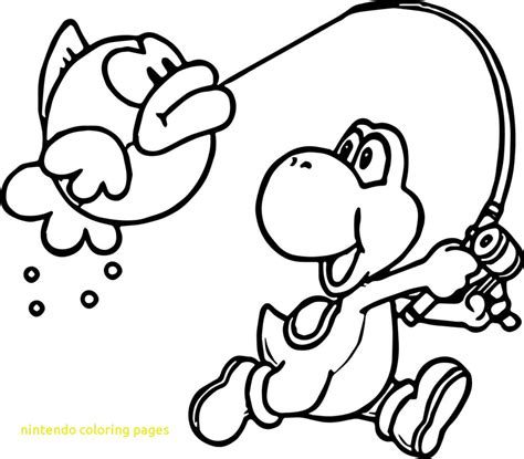 Coloring Page by Nintendo Coloring Pages With Coloring Page Yoshi Nintendo