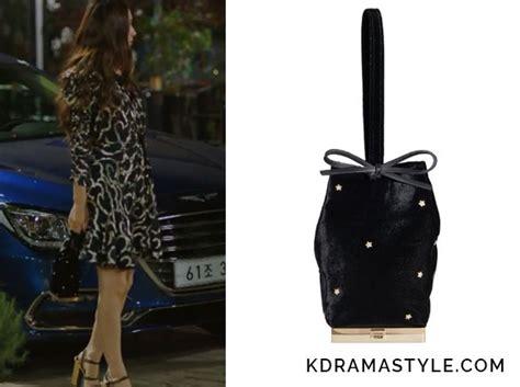 Fashion Bag Cig 08222 Black of the water god episode 12 s black velvet bag kdramastyle