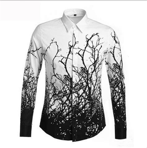 black and white pattern on clothes 2015 2016 fashion trends men s tree branches pattern long