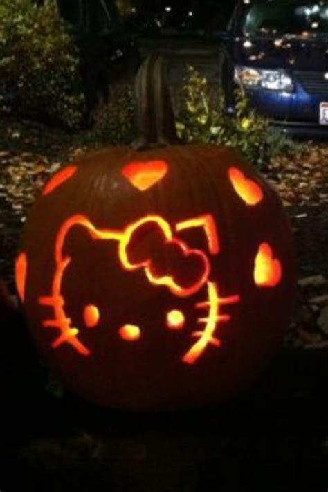 cute halloween pumpkin carving  kitty  images