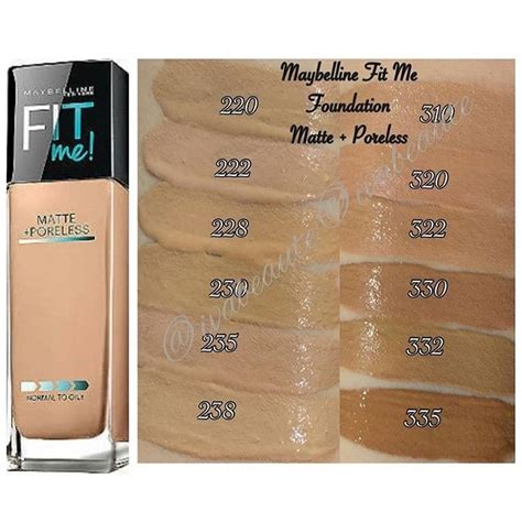 Maybelline Fit Me Matte And Poreless base maybelline matte poreless tono 228 fit me bs 97