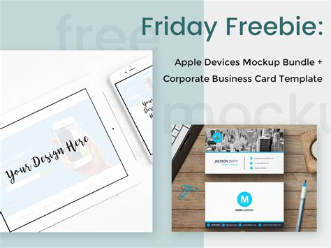 business card template for mac apple devices mockups corporate business card template