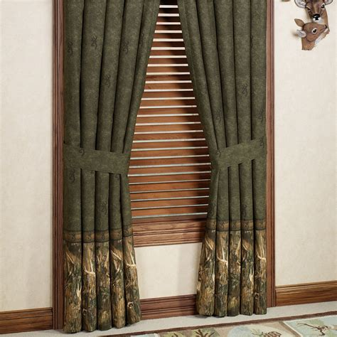 deer curtains browning r whitetails deer window treatment