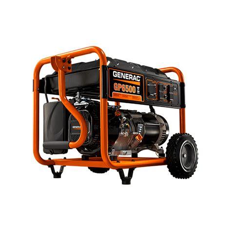 generac gp6500 6500 watt gas portable generator