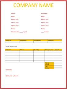 invoice services rendered template 5 service invoice templates for word and excel 174