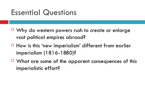 the new imperialism section 1 quiz western imperialism v2008