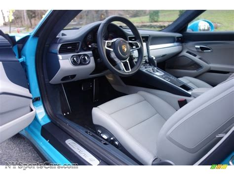 porsche graphite blue interior 2017 porsche 911 4 coupe in miami blue photo 14