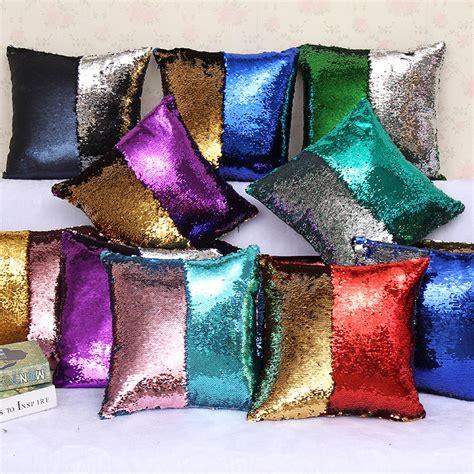 Cover Magic in stock mermaid sequins pillow cover magic diy inverted
