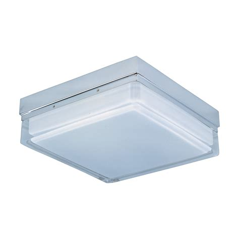 Flush Mount Square Ceiling Light Et2 Lighting E21038 01pc 2 Light Flux Square Flush Mount Ceiling Light Chrome Atg Stores