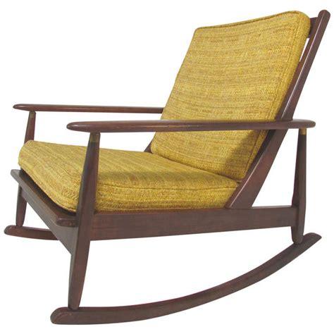 mid century modern rocking chair mid century modern paddle arm rocking chair circa 1960 s