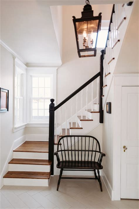 Victorian Screens Room Dividers - black amp white entryway farmhouse staircase chicago by kara o connor interiors