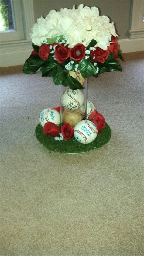 baseball wedding centerpieces pin by angie on angie bob s wedding in cape may nj 2