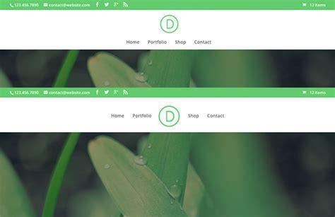 nav header layout exploring divi 2 4 all new header styles and design