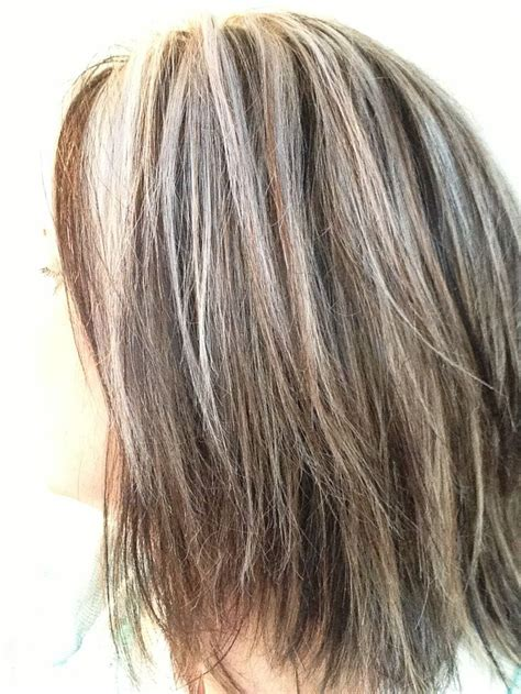 hairstyles grey highlights blending in grey in brown hair yahoo image search