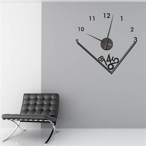 Wall Sticker Clocks falling numbers wall sticker clock wall chimp uk