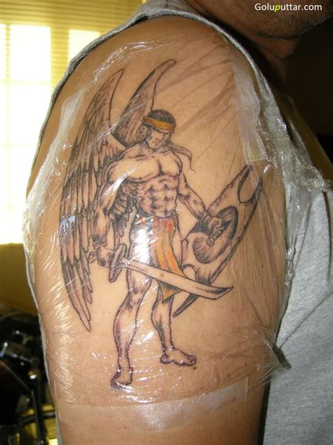 warrior angel tattoos warrior tattoos