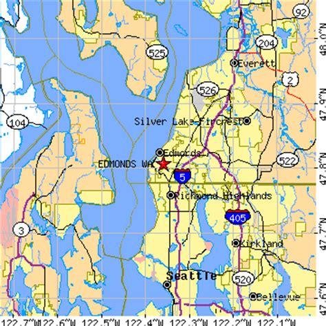 zip code map edmonds wa edmonds washington wa population data races housing