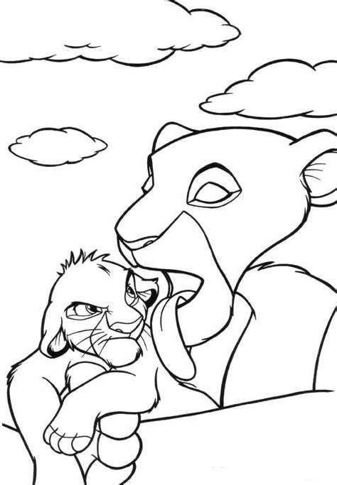 Malvorlagen fur kinder - Ausmalbilder Simba kostenlos