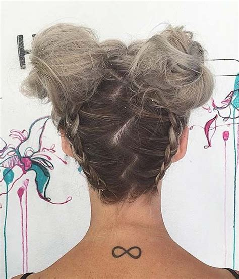 hairstyles like space buns space buns upside down braid and buns on pinterest