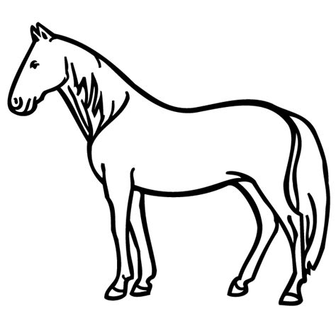 horse coloring pages pdf standing horse coloring page