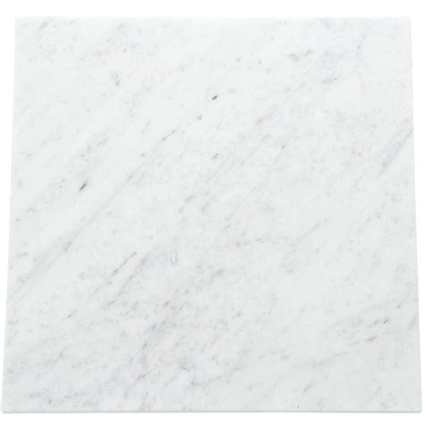 Carrara Marble Floor Tile Daltile Collection Carrara White 12 In X 12 In Polished Marble Floor And Wall