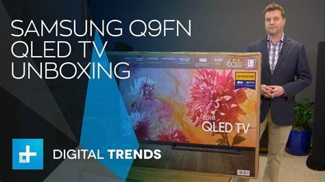 samsung q9fn qled tv unboxing