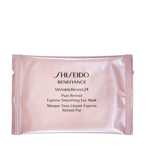 Masker Shiseido benefiance wrinkleresist24 retinol express smoothing eye mask shiseido