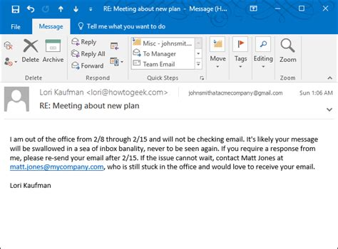 automatic reply email template how to set up an out of office reply in outlook for windows
