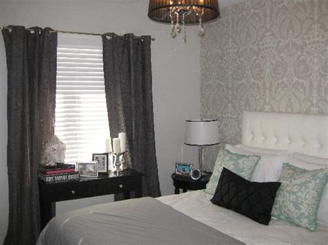 Curtains For Gray Bedroom Gray Grommet Curtains Contemporary Bedroom Wallpaper
