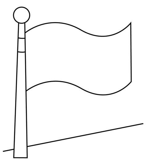 imagenes para colorear la bandera de venezuela mastil de bandera para colorear dibujos para colorear gratis
