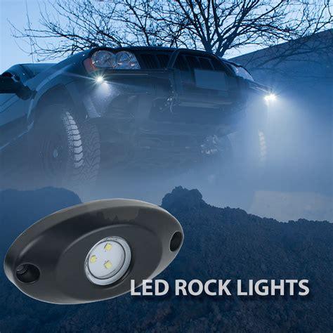 light up rock l waterproof off road led rock light kit 8 led rock lights