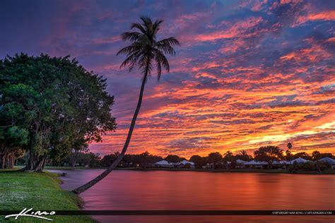 super colorful super colorful sunset over palm beach gardens florida