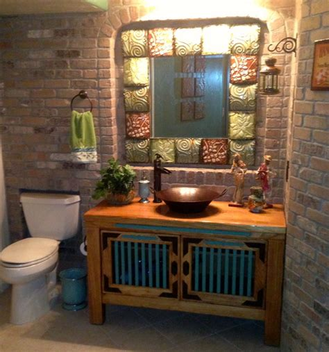 Mexican cantina eclectic bathroom denver by jh basement finish