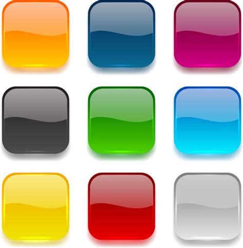 design app buttons app button icons colored vector set 25 application icons