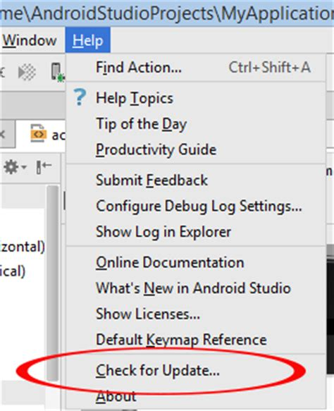 how to update android studio how to manually update android studio to version android exles