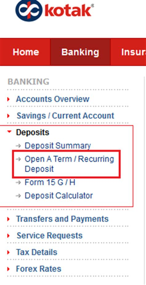 how to open account in kotak mahindra bank how to open term deposit td account in kotak mahindra