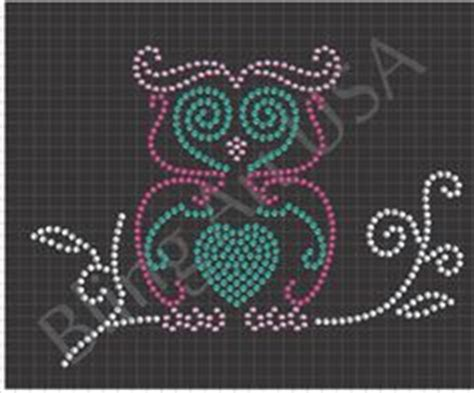 owl hotfix rhinestone template silhouette cameo hotfix