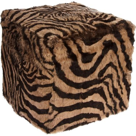 Brown Zebra Print Ottoman 1000 Images About For The Home On Getting Cozy Wool Pillows And Cowhide Pillows