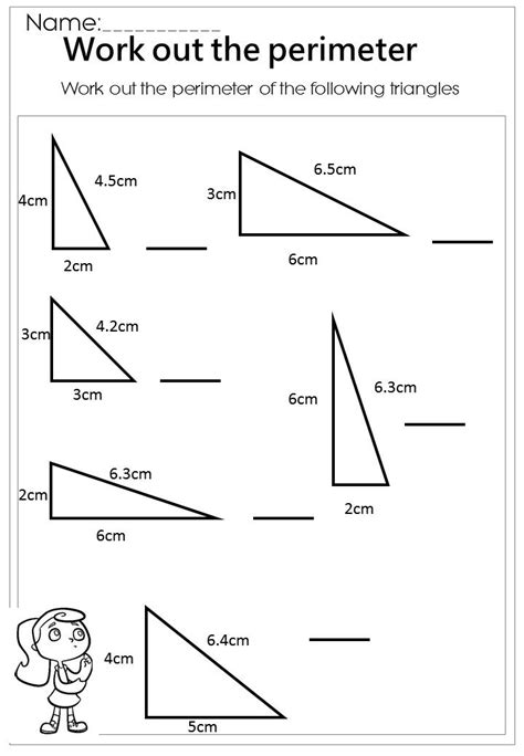 get printable area c work out the triangle perimeter worksheet mathematics
