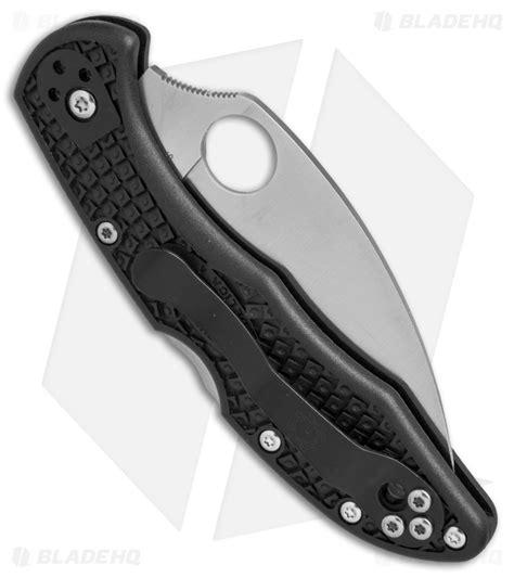 spyderco delica blade length spyderco delica 4 wharncliffe knife black frn 2 8 quot satin