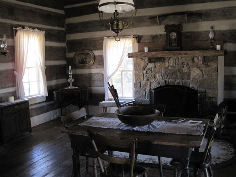 file green frog bells tn 24 log cabin interior jpg